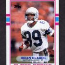 1989 Topps Football #182 Brian Blades RC - Seattle Seahawks