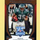 2010 Topps Draft 75th Anniversary Football #75DA50 Brian Westbrook - Philadelphia Eagles