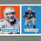 2002 Topps Heritage Football #070 Shaun Alexander - Seattle Seahawks