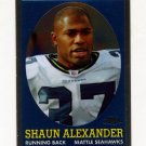 2005 Topps Chrome Throwbacks Football #TB3 Shaun Alexander - Seattle Seahawks