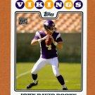 2008 Topps Football #336 John David Booty RC - Minnesota Vikings