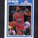 1989-90 Fleer Basketball #160 Jeff Malone - Washington Bullets