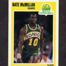 1989-90 Fleer Basketball #150 Nate McMillan - Seattle Supersonics