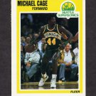 1989-90 Fleer Basketball #145 Michael Cage - Seattle Supersonics