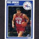1989-90 Fleer Basketball #116 Mike Gminski - Philadelphia 76ers