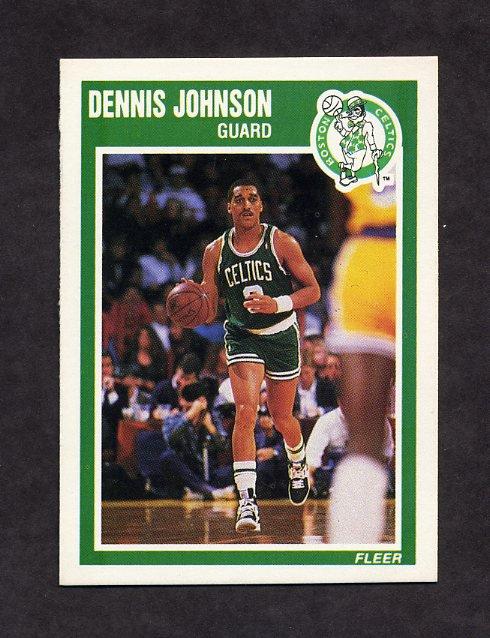 1989-90 Fleer Basketball #009 Dennis Johnson - Boston Celtics