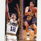 1995-96 Fleer Double Doubles Basketball #12 John Stockton - Utah Jazz