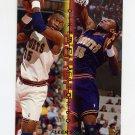 1995-96 Fleer Double Doubles Basketball #08 Dikembe Mutombo - Denver Nuggets