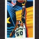 1990-91 Hoops Basketball #378B David Robinson TC - San Antonio Spurs