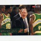 1995-96 Hoops Basketball #193 George Karl CO - Seattle Supersonics