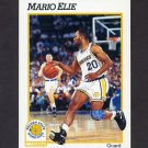 1991-92 Hoops Basketball #366 Mario Elie RC - Golden State Warriors
