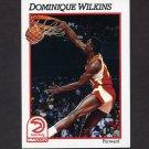 1991-92 Hoops Basketball #007 Dominique Wilkins - Atlanta Hawks