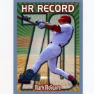 1999 Topps Opening Day Baseball #163 Mark McGwire HR 70 - St. Louis Cardinals