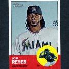 2012 Topps Heritage Baseball #174A Jose Reyes - Miami Marlins