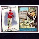 2010 Topps Allen and Ginter Baseball This Day in History #TDH60 Roy Halladay - Philadelphia Phillies