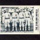 1977-84 Galasso Glossy Greats Baseball #180 Checklist 4 / The 100&000 Infield / Stuffy McInnis