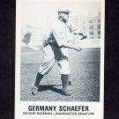 1977-84 Galasso Glossy Greats Baseball #167 Germany Schaefer - Washington Senators