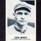 1977-84 Galasso Glossy Greats Baseball #151 Zack Wheat - Brooklyn Dodgers
