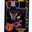 1991-92 Wildcard Basketball #083 Scottie Pippen - Central Arkansas VgEx
