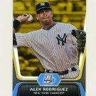 2012 Bowman Platinum Gold Baseball #036 Alex Rodriguez - New York Yankees