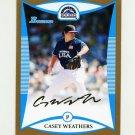 2008 Bowman Draft Prospects Gold Baseball #BDPP100 Casey Weathers - Colorado Rockies