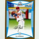 2008 Bowman Draft Prospects Gold Baseball #BDPP030 T.J. Steele - Houston Astros
