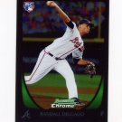 2011 Bowman Chrome Baseball #186 Randall Delgado RC - Atlanta Braves