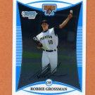 2008 Bowman Chrome Draft Prospects Baseball #BDPP010 Robbie Grossman - Pittsburgh Pirates