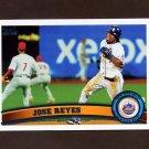 2011 Topps Baseball #380 Jose Reyes - New York Mets