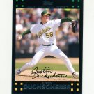 2007 Topps Update Baseball #121 Justin Duchscherer - Oakland Athletics