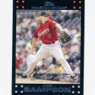 2007 Topps Update Baseball #093 Chris Sampson - Houston Astros