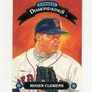 1993 Donruss Diamond Kings Baseball #DK03 Roger Clemens - Boston Red Sox