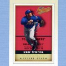 2002 Fleer Authentix Baseball #137 Mark Teixeira - Texas Rangers