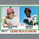 1978 Topps Baseball #202 Home Run Leaders / George Foster / Jim Rice