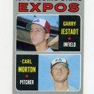 1970 Topps Baseball #109 Rookie Stars / Garry Jestadt RC / Carl Morton - Montreal Expos