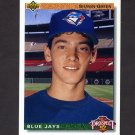 1992 Upper Deck Baseball #055 Shawn Green RC - Toronto Blue Jays