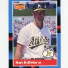 1988 Donruss Baseball Bonus MVP's #BC23 Mark McGwire - Oakland Athletics Ex
