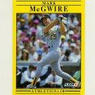 1991 Fleer Baseball #017 Mark McGwire - Oakland Athletics