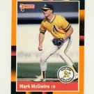 1988 Donruss Baseball's Best #169 Mark McGwire - Oakland Athletics