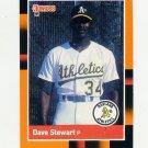 1988 Donruss Baseball's Best #099 Dave Stewart - Oakland Athletics