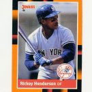 1988 Donruss Baseball's Best #076 Rickey Henderson - New York Yankees