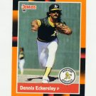 1988 Donruss Baseball's Best #043 Dennis Eckersley - Oakland Athletics