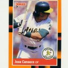 1988 Donruss Baseball's Best #022 Jose Canseco - Oakland Athletics