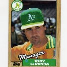 1987 Topps Baseball #068 Tony LaRussa MG / Oakland A's Team Checklist