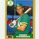 1987 Topps Traded Baseball #117T Terry Steinbach RC - Oakland Athletics