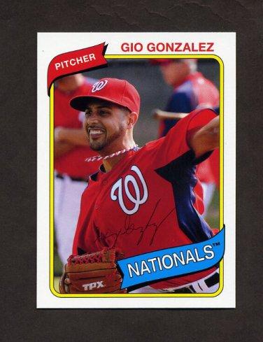 2012 Topps Archives Baseball #115 Gio Gonzalez - Washington Nationals