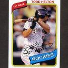 2012 Topps Archives Baseball #112 Todd Helton - Colorado Rockies