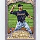 2012 Topps Gypsy Queen Baseball #207 Matt Dominguez RC - Miami Marlins