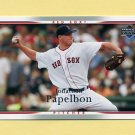 2007 Upper Deck Baseball #074 Jonathan Papelbon - Boston Red Sox