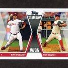 2011 Topps Diamond Duos Series 2 Baseball #DD01 Roy Halladay / Roy Oswalt - Philadelphia Phillies